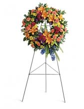 Colorful Standing wreath