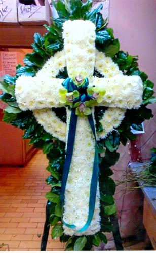Celtic Cross with Orchids
