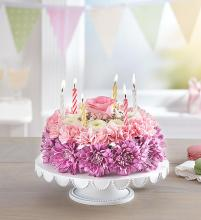 Birthday Wishes Flower Cake lavender