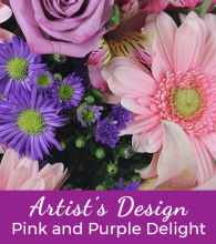 Florist Designed Pink & Purple Bouquet