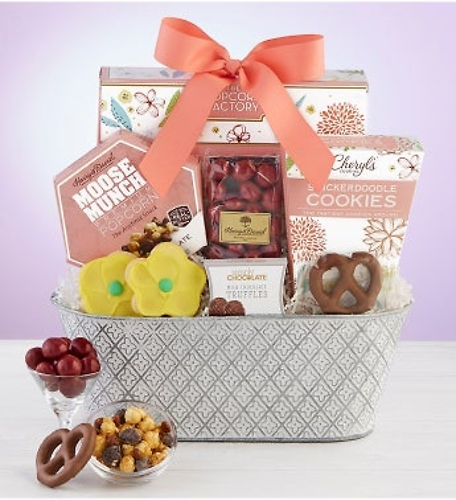 Sweet Treats In Full Bloom Basket