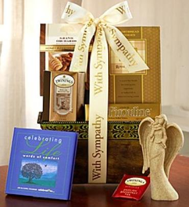 Sympathy Basket with book and Angel