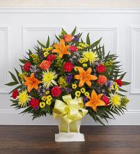 Heartfelt TributeFloor Basket- Bright