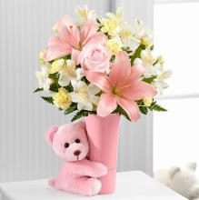 The Baby Girl Big Hug Bouquet