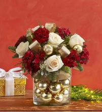 Golden Ornament Arrangement