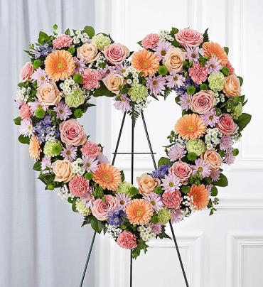 Always Remember? Floral Heart Tribute- Pastel