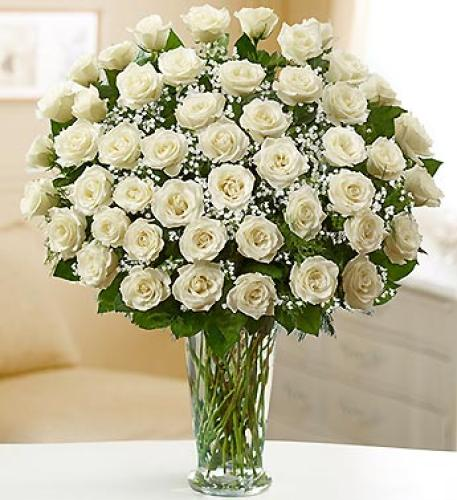 Ultimate Elegance with White Roses
