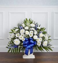 Heartfelt Tribute Basket- Blue & White