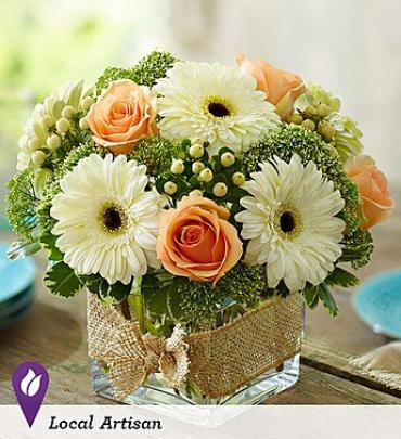 Modern Rose and Gerber Daisy Bouquet