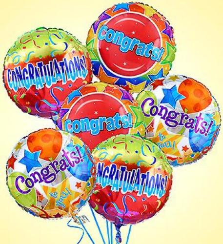 Air-Rangement- Congratulations Mylar Balloons