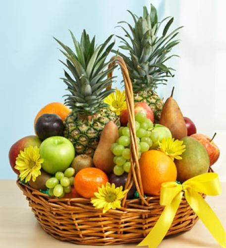 Deluxe All Fruit Basket for Sympathy