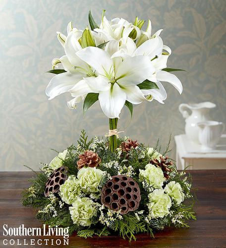 White Lily Topiary by Southern Living